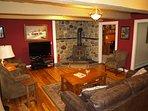 Comfortable Living room w/Wood burning stove