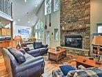 NEW! Luxury Stone Mountain Chalet on 19 Acres!
