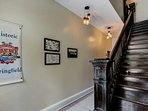 Front Entry area with original tile floors and original stairs!