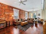 Gorgeous Exposed Brick - wood floors - cozy living space!