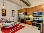 Kitchen includes Refrigerator, Microwave, Stove, Oven, Dishwasher