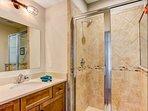 Master Shower & Sink Area