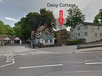 Daisy Cottage location up the hill from Mother Shipton's Cave.
