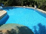 large fully tiled swimming pool