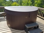 Hot tub on outside deck. Open seasonally from late April to mid December.