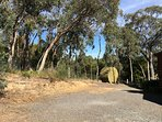 Top Carpark with direct access to house and woodshed.