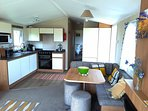 open plan spacious kitchen/lounge