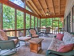 Unwind on the open deck and take in phenomenal views of the lake!