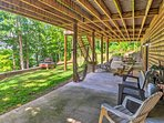 Ample outdoor seating is available throughout the property.