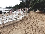 Wedding party on our private beach.