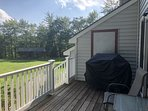back porch area overlooking yard and picnic area