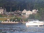 View of cottage via boat on Lake Winnipesaukee!