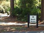 Beach Access is just a few steps down the street