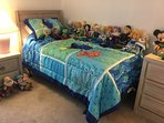 Nemo themed bedroom with Disney princess dolls