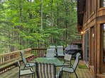 You'll love sitting out on this spacious deck.