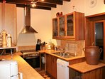 The kitchen has been described by guests as the best equipped kitchen in a holiday house ever.