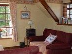Living room with comfy sofas