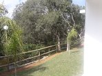 Casas estilo Piedra 2 ambientes - Base 2 personas (hta 4 huespedes): Vista a parque y arroyo