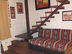 Bungalow 3 ambientes - Base 5 personas (hta 7 huespedes): Sofa cama (arriba y abajo)