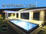 PRIVATE designed villa to enjoy magnificient salted pool with family and friends