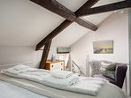 A characterful and stylish bedroom...