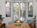 Kitchen and patio doors