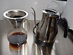 Drip coffee and water kettle for coffee / tea steeping