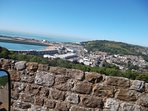 View towards Castle View from Dover Castle