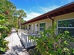 Hidden Paradise on Lakefront Property Among Tropical Landscape on Siesta Key