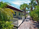 Hidden Paradise Among Tropical Landscape on Lakefront Property on Siesta Key