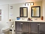 Double vanities are a welcome sight.