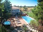 Villa Alyzea Bessan vue aérienne