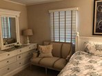 New French settee in master suite #2