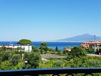 Sea view on the bay of Naples and Vesuvius