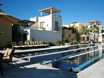 Visit the lap pool just off the paseo