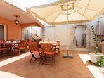 Comfortable for up to 12-14 people - dining area outside