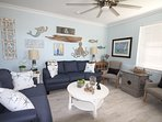 Another angle of amenities and decor of this living room.