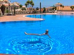 Our area pool only 20 meters from our entrance.