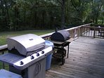 Your choice of either a propane grill or charcoal/wood smoker.