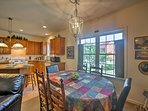 Gather around the quaint dining table to enjoy home-cooked meals.