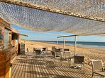 Great snack bar at Plage de la Terrière - just 10 mins away from our villas