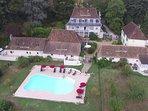 Aerial view of Domaine Lavie