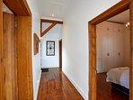 Hallway from front door to bathroom and bedrooms