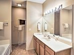Enjoy a private morning in the en-suite bathroom.