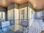 Relax with tasty refreshments in your private porch.