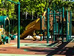 One of several playgrounds found within the guarded community.