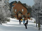 Ski home to Camp  4.   We invite your family to enjoy one of Snowshoe's nicest accomodations.  Camp 4 # 2.  Welcome !