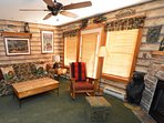 You really can ski to the door. Cozy gas fireplace. Very private.