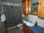 Full Bath with tub/shower, hair dryer, hotel quality towels.