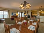 Two Dining Tables seat up 20.  Have guests join you for dinner or slopeside brunch.